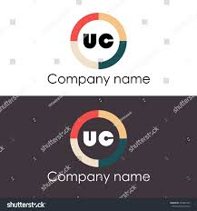 Uc With Graphic Design Uc Letters Business Logo Icon Design Stock Vector Royalty