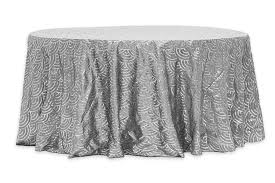 mermaid scale sequin 120 round tablecloth silver