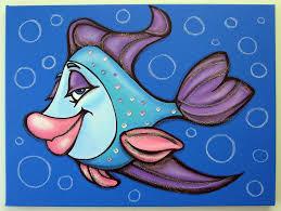 oLiViA FiSH Painting by Mara Morea
