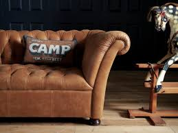 John Lewis Living Room Furniture John Lewis Oak Full Leather Hand Buttoned Chesterfield Cambridge