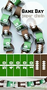 Free Printable Game Day Paper Chain I Game Day Football