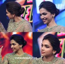 deepika padukone messybun hairstyle with saree tamannah hairstyle with saree deepika padkone messy updo hairstyle with saree