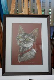 framed pastel pet portrait by sally mclean