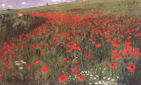 poppies in the field 1896 pai merse szinyei oil painting