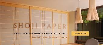 waterproof laminated kozo shoji paper