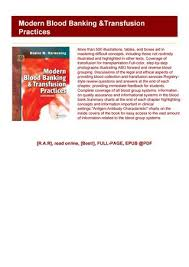 Read_pdf Modern Blood Banking Transfusion Practices