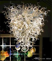 modern art glass chandeliers table top chihuly chandelier ac 110 120 220 240v hand blown glass chandelier lighting blown glass chandelier clear glass