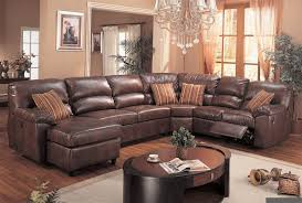 impressive microfiber reclining sectional sofa leather sectional sofa with recliner stoney creek design