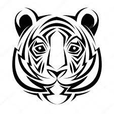 Tiger Tetování Zvířat Design Stock Vektor Jemastock 120580826