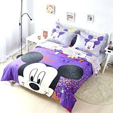 mickey and minnie mouse king size bedding uk queen modern bed linen mi