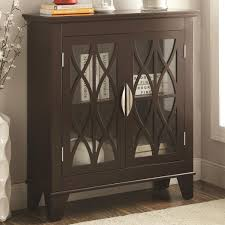 Living Room Cabinets With Glass Doors Accent Cabinet With Glass Doors Coaster 950311