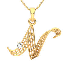 the n alphabet pendant diamond jewellery at best s in india sarvadajewels com