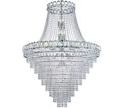 searchlight louis philipe 28 light chandelier chrome finish with crystal strings beads