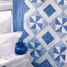 Breeze: Fast Two-Color Lap Quilt Pattern & Blue Breeze: Fast Two-Color Lap Quilt Pattern Adamdwight.com