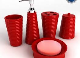 Red And Black Bathroom Accessories Red Bathroom Accessories White