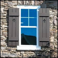 exterior cedar shutters rustic wood