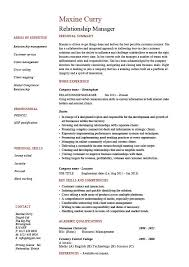 Relationship manager resume, account management, CV, job description,  example, sample