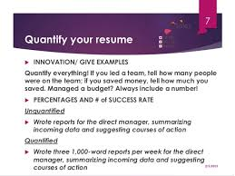 Enchanting Quantify Resume 78 In Free Resume Templates With Quantify Resume