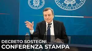 DecretoSostegni, conferenza stampa del Presidente Draghi con i Ministri  Franco e Orlando - YouTube