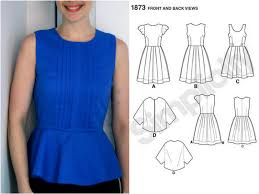 How To Make A Dress Pattern Enchanting How To Make A Peplum Top Out Of Any Dress Pattern Two Ways