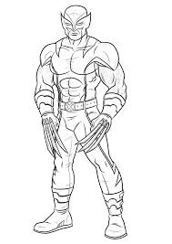 Awesome Coloring Pages For Kids Wolverine | Super Heroes Coloring ...