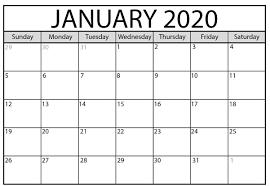 12 Months 2020 Calendar January 2020 Calendar Pdf Word Excel Printable Template