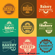 Retro Bakery Logos And Badges Collection Vector Free Download