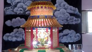 thermocol decoration for ganpati 2016 heaven temple of china model