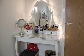 Makeup Dresser Modren Vanity Table Mirror Etched Glass Trifold Top Makeup