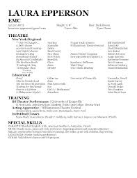 Examples Of Actors Resumes Talent Resume Template