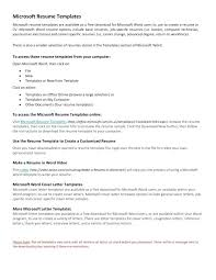 Does Microsoft Word Have A Resume Builder Word Resume Formats Word