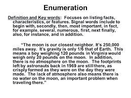 of enumeration essay sentence of enumeration essay
