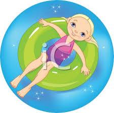 inner tube clipart.  Tube Royalty Free Clipart Image Little Blond Girl Floating In An Inner Tube On  Summer Break Throughout I