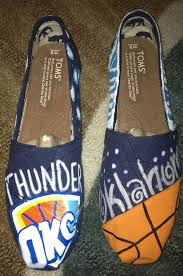 custom painted oklahoma city thunder toms