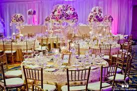 Round Table Decoration Purple Flower Centerpiece Round Table Setup Purple Wedding