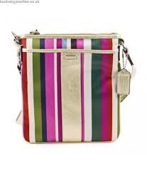 Coach Signature Legacy Stripe Swingpack Crossbody Bag 48615 Multi  cheap-60772