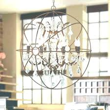 metal orb chandelier black crystal bl wood 6 light round antique large world market l and