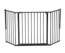 Babydan Designer Wood And Metal Gate Baby Safety Infant Door Pet Swing Gate Medium Black