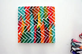 tape painting tape painting art technique mommy scene canvas tape painting  ideas . tape painting ...