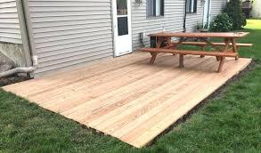 build ground level deck by