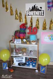Fortnite Themed Birthday Party Ideas Diy In 2019 Christmas