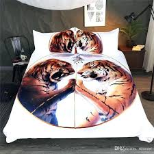 3d bed sets bedding sets polyester bed sheets tiger pattern fashion printing duvet covers twin full queen king fire and ice by queen size comforters denim