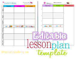 Blank Lesson Plan Template New Cute Lesson Plan Template Free Editable Download Lesson Plans