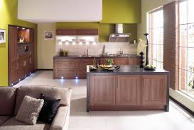 Green Apple Decorations For Kitchen Latest Indian Kitchen Interior In Red Colour Combinations