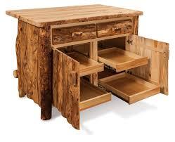 Amish Furniture Kitchen Island Amish Rustic Aspen Kitchen Island Bar