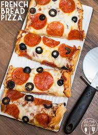 homemade french bread pizza. Delighful Pizza French Bread Pizza Is Made With Your Favorite Pizza Toppings And Sauce  A Crispy French With Homemade