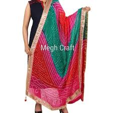 Bandhej Dupatta Designs Beautiful Gota Patti Work Bandhej Dupatta Multi Colored