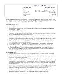 Job Description Of Dentist Job Description For A Dentist Registered ...