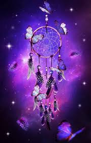 dream catcher with erflies purple background purple a