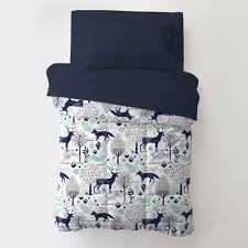 shabby chenille toddler bedding navy and mint woodlands toddler bedding
